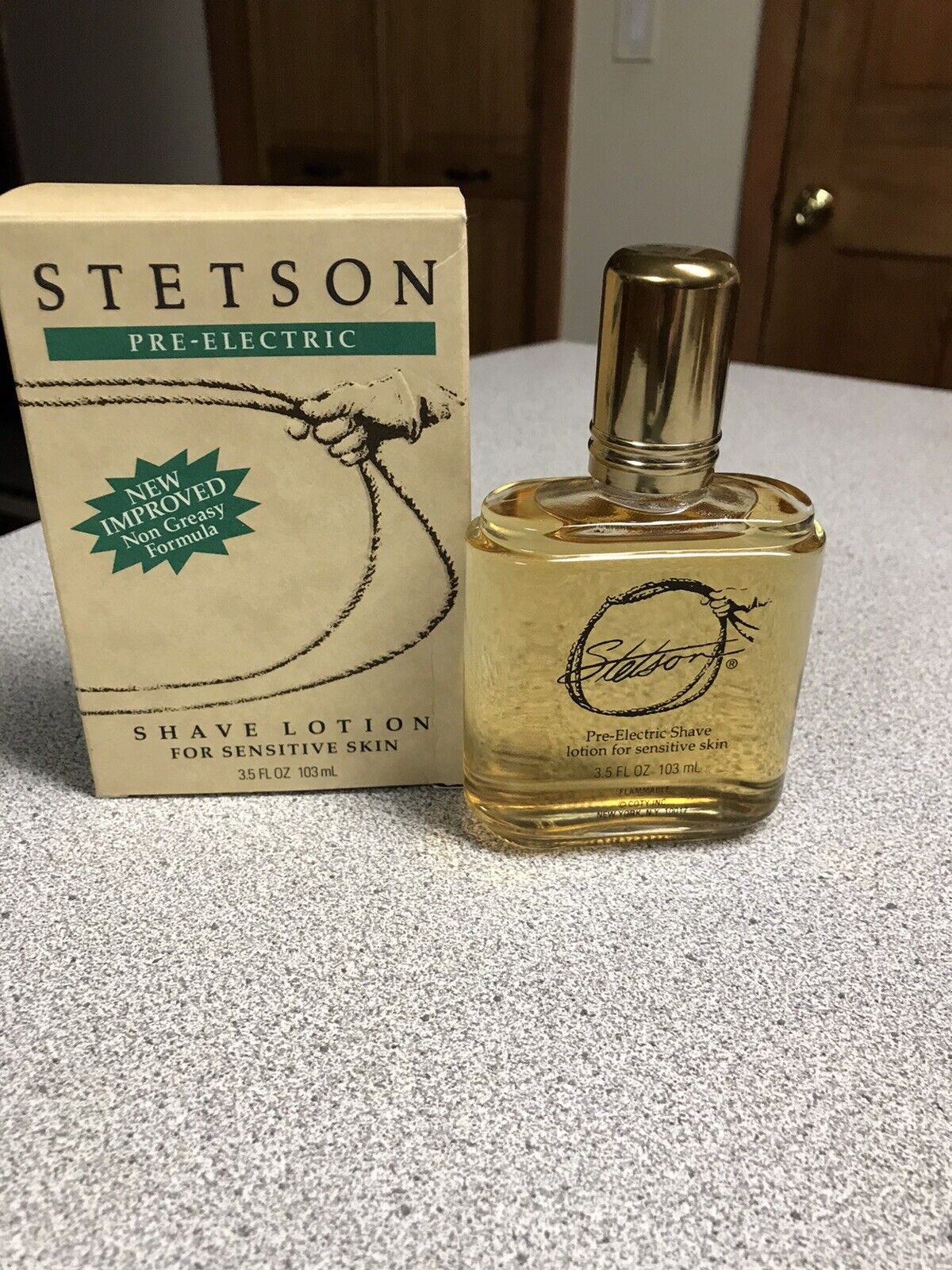 Vintage STETSON PRE - ELECTRIC Shave Lotion for Sensitive Sk