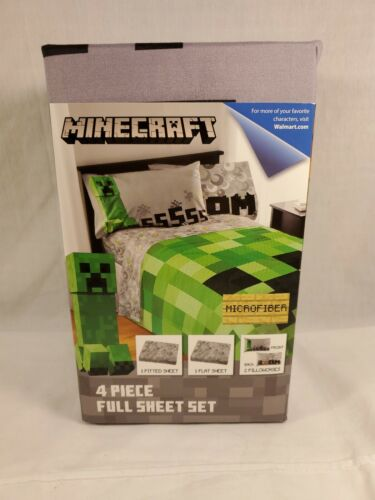 Minecraft Bedding Bed In A Bag 4 Piece Set Full Size