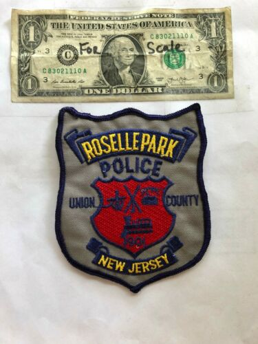 Rosellepark New Jersey Police Patch  un-sewn in Great Shape