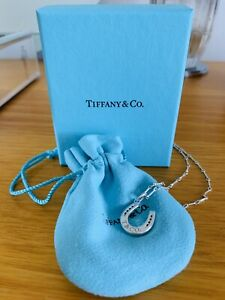 Authentic Tiffany & Co horseshoe pendant necklace - as new