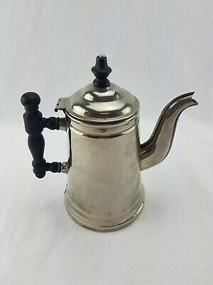 """Vintage 6 Cup 8.5"""" Wellworth Wentworth Canada Coffee Pot with Wooden Handle"""