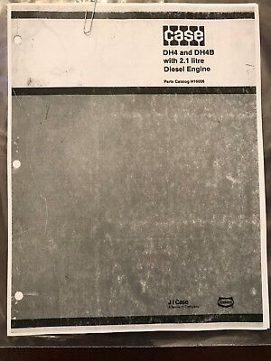 Case Dh4 Dh4b Trencher W 2.1 Litre Diesel Engine Parts Book Manual Catalog