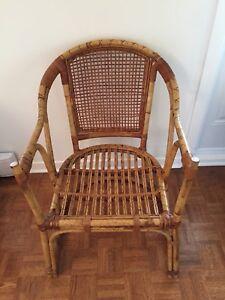 Chaise vintage en bambou