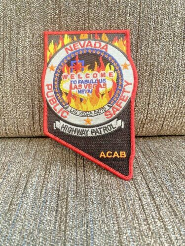 NEVADA HIGHWAY PATROL LAS VEGAS POLICE RIOTS ACAB FIRE TBL RARE PATCH LIMITED