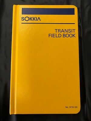 Sokkia Transit Field Book 8152-00