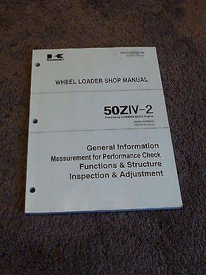 Kawasaki Wheel Loader 50ziv-2 50c2-0101- Service Repair Shop Manual Adjustment