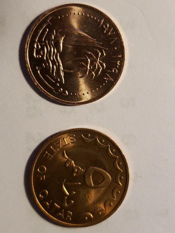 QATAR  5 dirhams coin 1978 KM 3 Bronze, Uncirculated