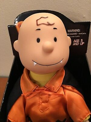 Halloween Peanuts Dancing Charlie Brown Vampire Costume Used with New Batteries