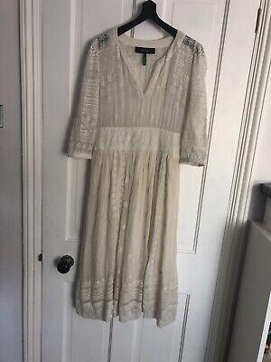 Isabel Marant Vintage Style Cream / Ivory Cotton Mesh Embriodered Dress
