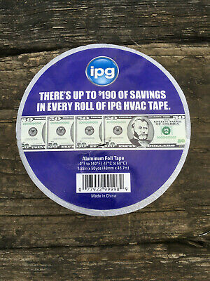 1 Roll Of Ipg Hvac Aluminum Foil Tape 50 Yards X 1.88 Inch. Fast Ship