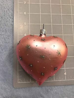 Pink Star Valentine's Day Heart Ornament