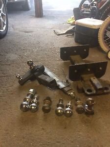 Travel trailer receiver hitches and balls
