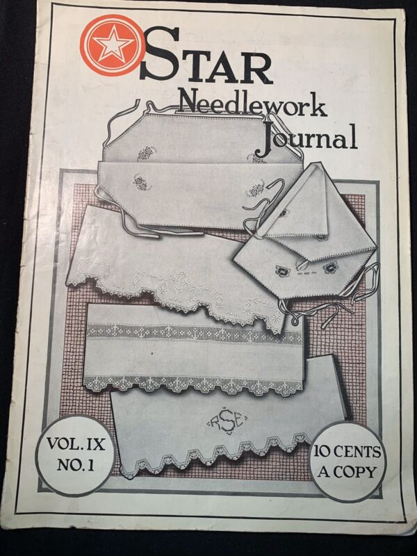 Original Antique 1024 Star Needlework Journal Vol IX No 1