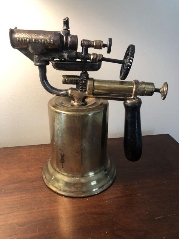 Antique Brass TURNER Gasoline Blow Torch Steampunk Collector Memorabilia Vtg