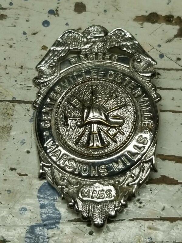 Centerville Osterville Marstons Mills Mass Fire Department Badge Cape Cod