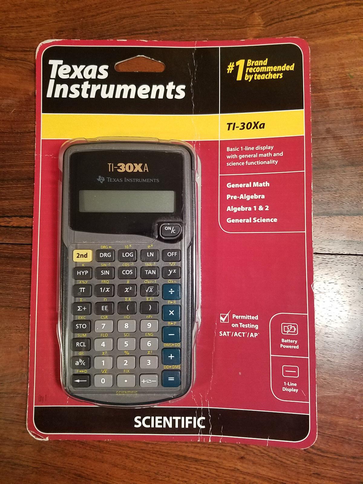 Texas Instruments TI-30XA Scientific Calculator (New in Packaging)