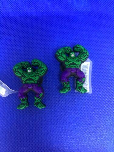 Marvel Hulk 2 Pack Authentic Crocs Jibbitz (NEW)