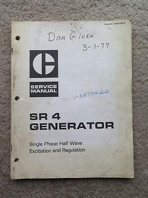 Vintage 1975 Caterpillar Sr 4 Generator Service Manual