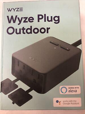 Wyze Plug Outdoor (2 Plugs In 1)  Model #WLPPO1-1