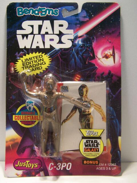 Star Wars JusToys C-3PO Bend-Ems MOC 1993