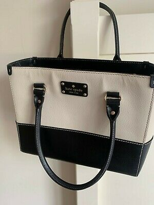 Kate Spade Leather Shoulderbag  - Black and white good condition used