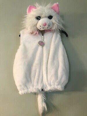 Cat  halloween costume baby 6-9 months plush white cat