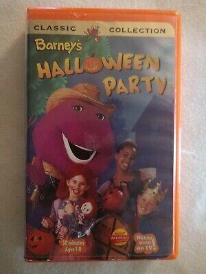 Barney - Barneys Halloween Party (VHS, 1998) Classic Collection - Children's VHS - Halloween Party Barney