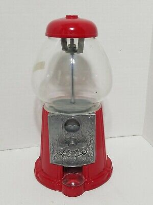 VINTAGE 1985 CAROUSEL JUNIOR GUMBALL MACHINE / CAST METAL WITH GLASS GLOBE