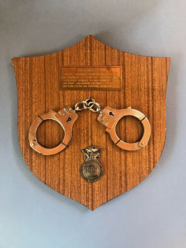 Vietnam Era Plaque With U.S. Air Force Police Badge Handcuffs Fuchu Air Station