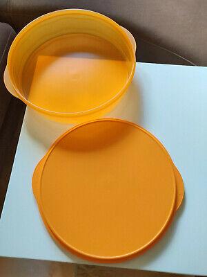 Tupperware Junge Welle J 30 Torty Tortenbehälter orange Kuchen-Behälter NEU//OVP