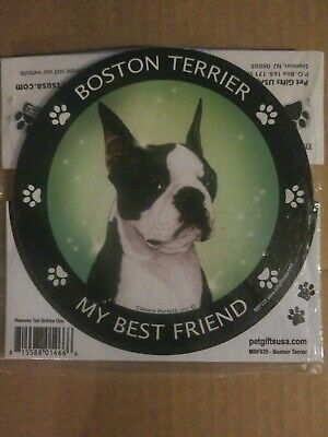 My Best Friend Dog Car Magnet Boston