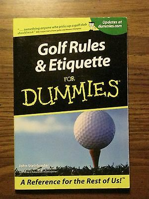 Golf Rules and Etiquette for Dummies by John Steinbreder (2001, Paperback)