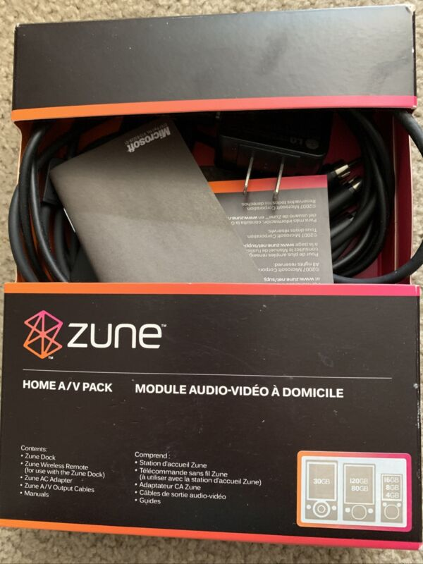 NEW! Genuine Official Microsoft ZUNE Home A/V Pack Dock & remote NEW!