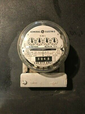 Vintage Watt Hour Meter General Electric Type 1-50-a Single Stator 3 Wire 240v