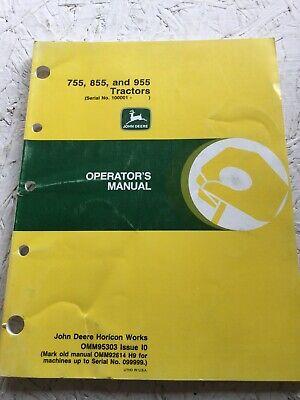 John Deere 755 855 955 Tractor Operators Manual