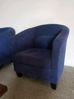Curved armchairs