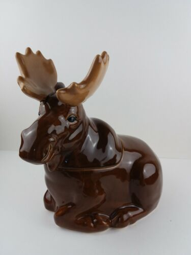 Sonoma Into The Woods MOOSE Cookie Jar Cabin Country Rustic