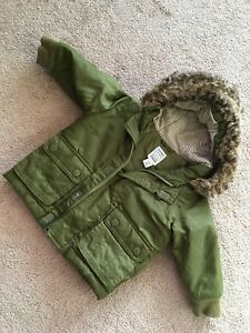 12-18 month olive green boys winter fall jacket