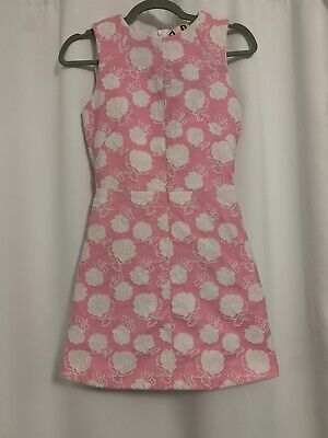 MSGM Pink & White Floral Mini Dress Size Small