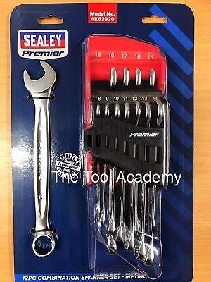 Sealey Tools Premier Range Lifetime Warranty Combination Spanner Set 8-19mm