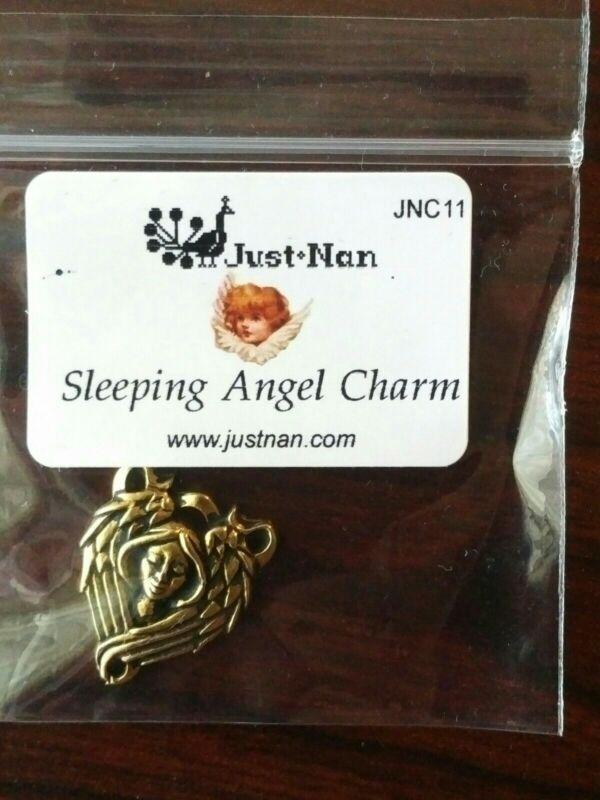 JUST NAN SLEEPING ANGEL CHARM FOR CROSS STITCH NEEDS
