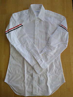 NWOT Thom Browne White Oxford Button Down TB2 Grosgrain Arms MSRP $450