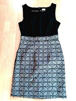 H&M Kleid 🌞 M 38 40 schwarz Silber Cocktail Taft online kaufen