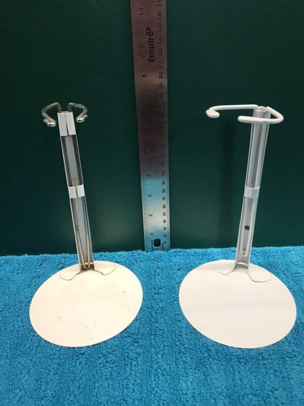 2 Adjustable Metal Doll Stands