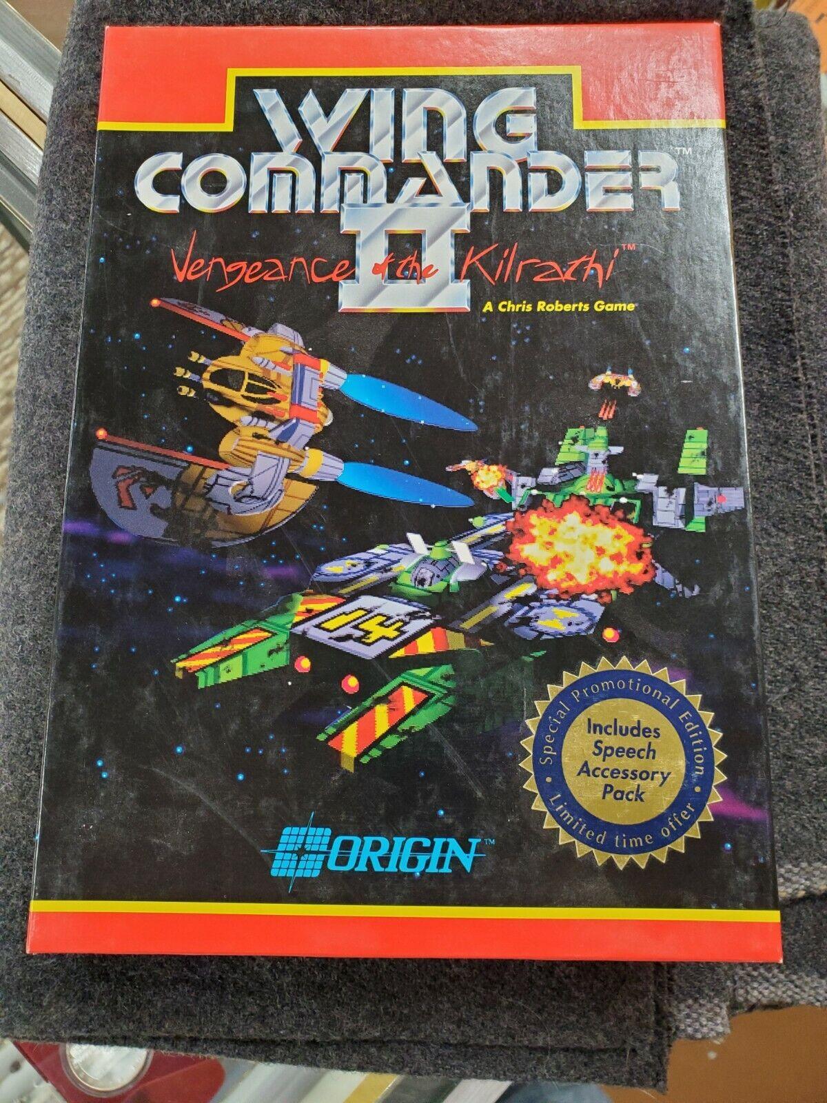 Computer Games - WING COMMANDER II Vengeance Kilrachi IBM PC Dos Origin 5.25 BIG BOX Computer