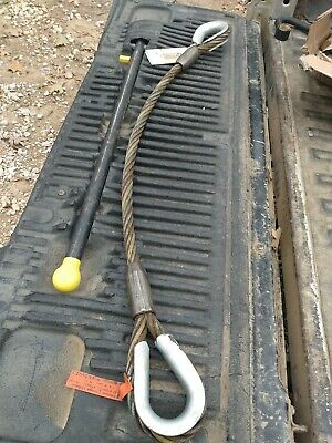 Lift-all 4 Foot Sling Wire Rope New