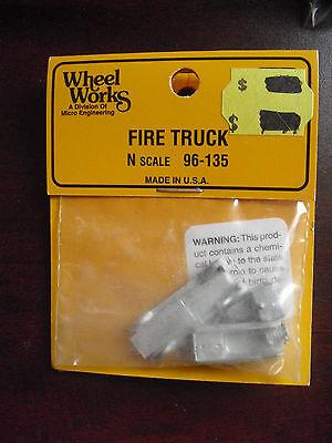 Used, Wheel Works N Scale Fire Truck Kit 96-135 NIP for sale  Thorndale