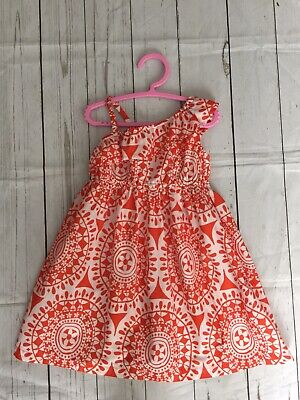 Girls Carters Orange One Shoulder Summer Dress size 5 Years