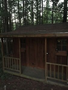 8 x 10' pine shed, with 3' porch