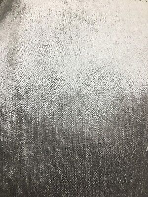 LIGHT GRAY SOLID CHENILLE VELVET UPHOLSTERY DRAPERY FABRIC (56 in.) Sold By The